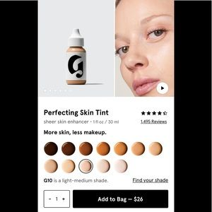 Glossier perfecting skin tint g10